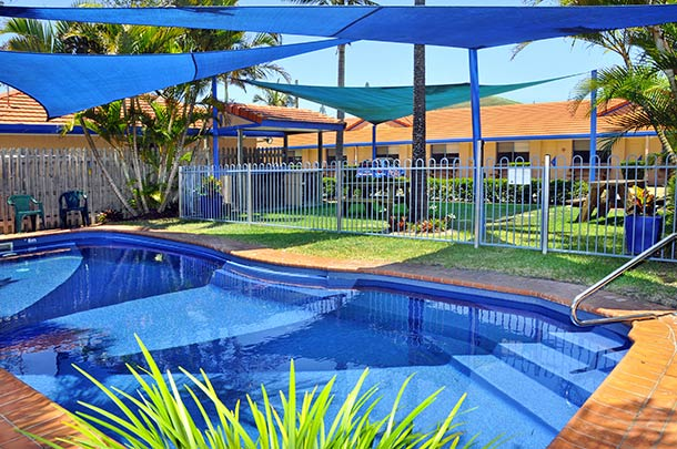 Relax in our tropical pool at Yamba Twin Pines Motel